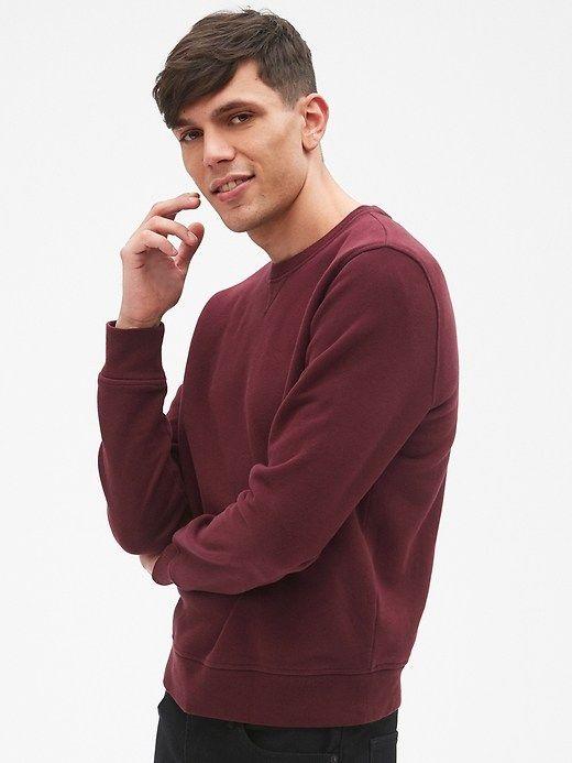 Gap Mens Vintage Soft Pullover Crewneck Sweatshirt Pinot Noir e1dee0162
