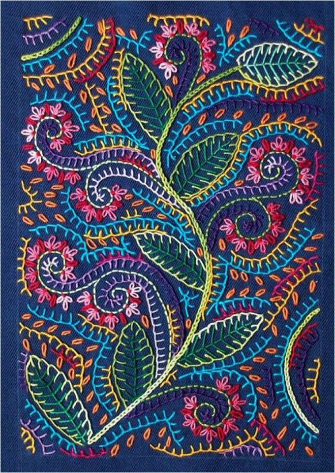 Fine example of the stitch embroidery | Прекрасный образчик вышивки