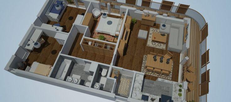 3ds Max épület látványtervek - Látványrajz