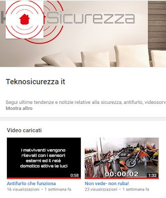 Teknosicurezza Canale Youtube