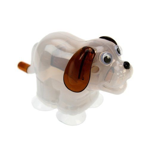 Attach pencil sharpener pup  to your desk with his special suction paws. Feed him the blunt instrument. Wind his tail and watch his ears jump around as he chews the pencil to a perfect point. A nice funny gift for everyone.