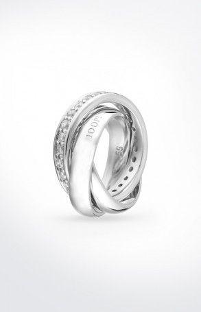 JOOP! Ring Embrace in Silber mit Zirkonia