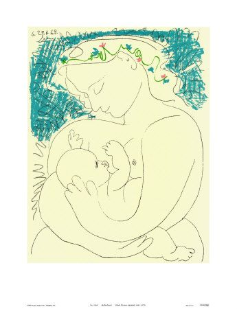 picassoMotherhood Picasso, Painting Picasso, Child Drawing, Celebrities Motherhood, Beautiful Picasso, Mothers Day Cards, Pablo Picasso, Child Painting, Beautiful Mothers