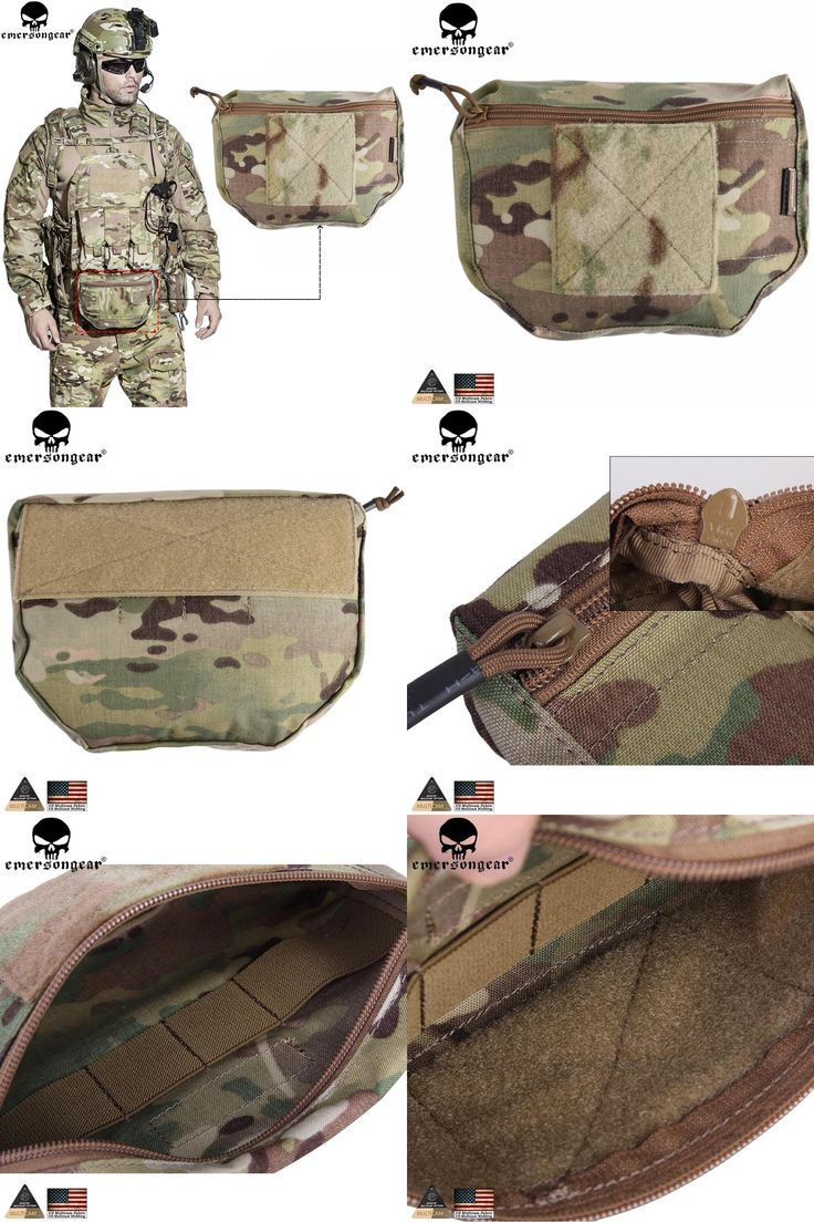 [Visit to Buy] EMERSONGEAR Armor Carrier Drop Tactical Pouch Molle Velcro mounted pouch For AVS JPC CPC Genuine Multicam Tropic Arid EM9283 #Advertisement
