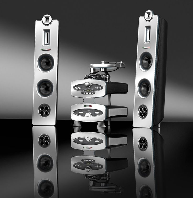 New set of custom built speakers and sound system from Pagani - the makers of the Zonda 'supercar'. Nice, yes?