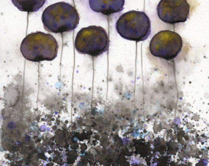 Pittura ad acquerello: Fiore acquerello dipinto - Art Print - condivisione di segreti - scuri fiori ad acquerelli - 8 x 10