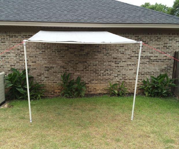 Tarp And PVC Canopy Lean-to Workspace