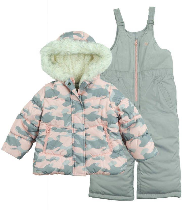 - Pink Heart OshKosh BGosh Little Girls Printed Puffer 4 Toddler//Kids