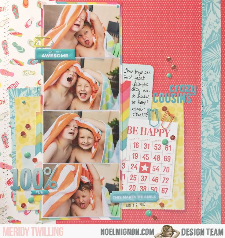 "Hello friends!  Happy Monday!  It's Meridy here and I have a 12x12 layout to share with you today.  I am using the ""High Five"" Daily Diary ..."
