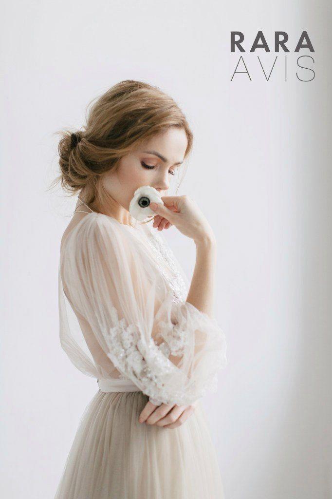 Vestido de novia Linda largo sleevs vestido por RaraAvisAngeEtoiles