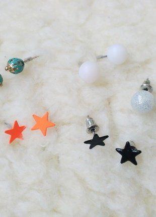 Kupuj mé předměty na #vinted http://www.vinted.cz/doplnky/nausnice/16588433-set-mix-ruznych-nausnic-perlicky-hvezdicky