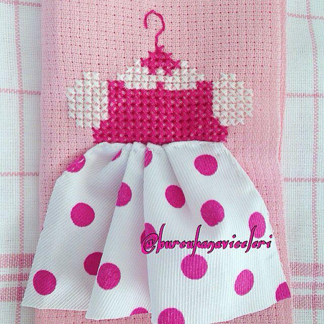 Pink Dress Cross Stitch