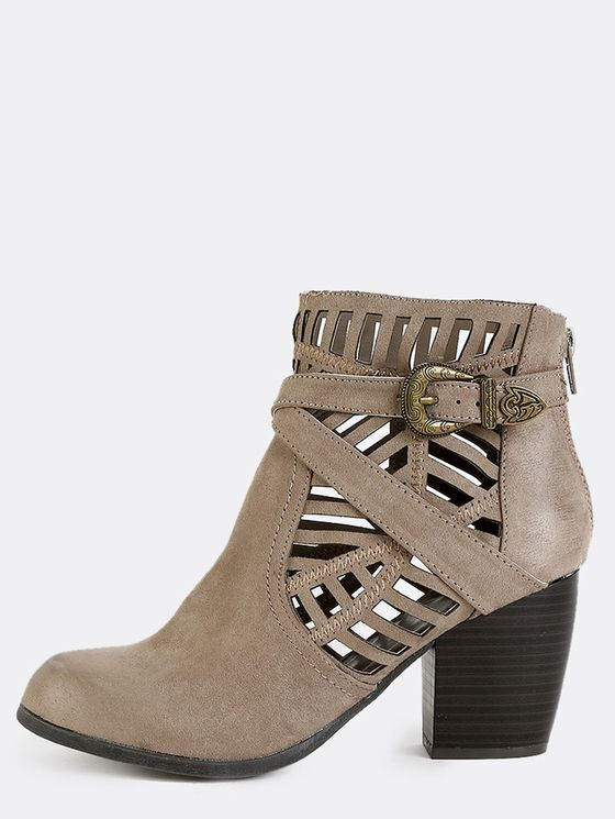 Online shopping for Tribal Cut Out Suede Boots TAUPE from a great selection of women's fashion clothing & more at MakeMeChic.COM.