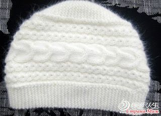Tina's handicraft : how to make a knittet cable hat