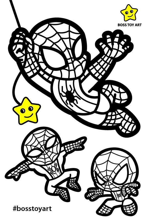 Spiderman Coloring Video By Bosstoyart Spiderman Coloring Superhero Coloring Art Toy
