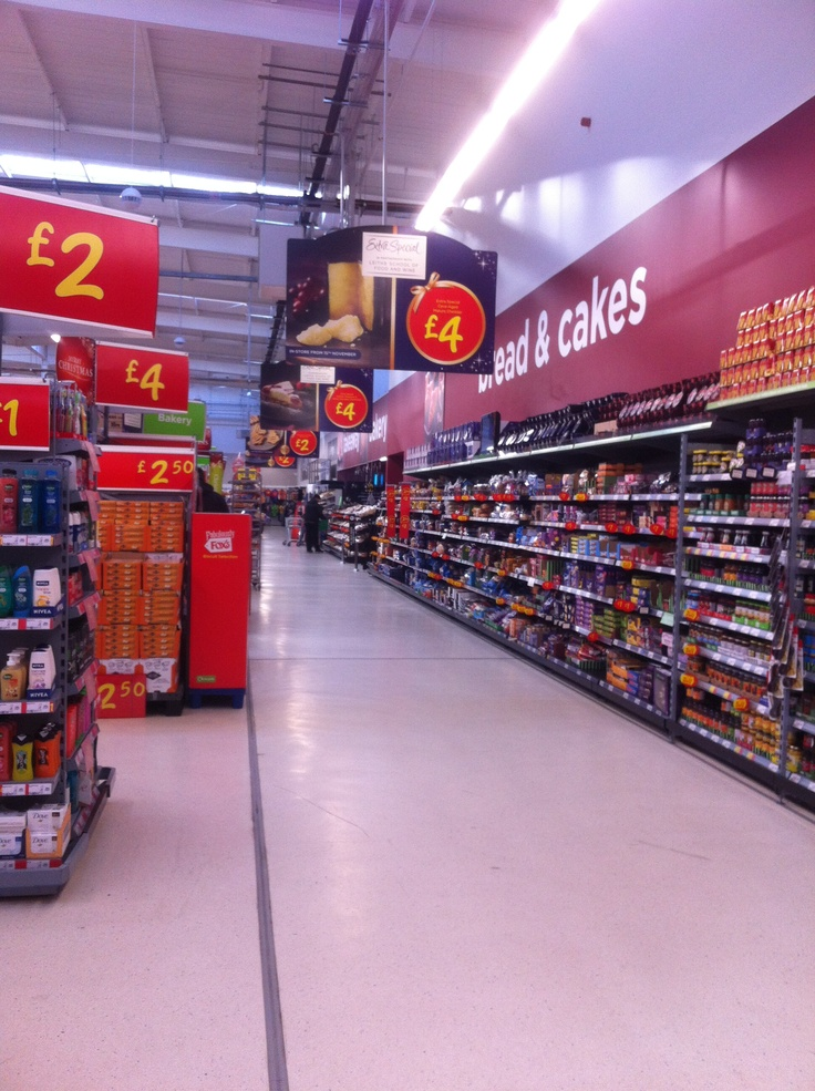 Value pricing, bread and cakes aisle.