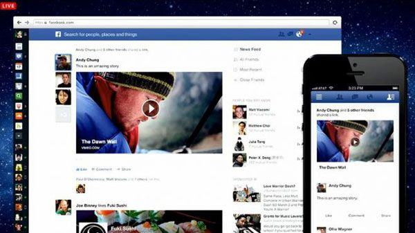 New Facebook news feed with fresh paint.
