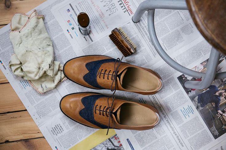 #chaussures #Hacter #marque #mode #homme #french #fashion #brand #men #chaussure #richelieu #shoes #cuir #vachette #camel #denim #recyclé #leather #calfskin #jean #recycled #ecofriendly #responsable #chic #dandy #elegant #modern Photo : Aurélie Lécuyer #AurelieLecuyer @ledansla