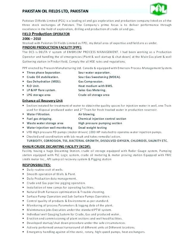 Chemical Operator Resume Bunch Ideas Of Resume Chemical Plant Operator Oilfield Resumes Chemical Operator Resume F Sample Resume Templates Sample Resume Resume