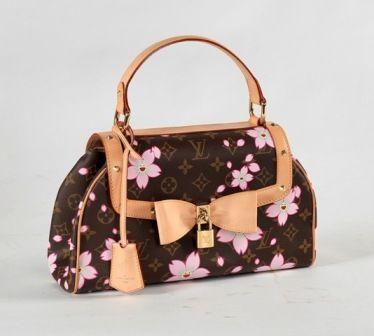 Louis Vuitton Limited Editon Monogram Cherry Blossom Sac Retro Bag Monogram Canvas mit Kirschblüten, Rufpreis € 550