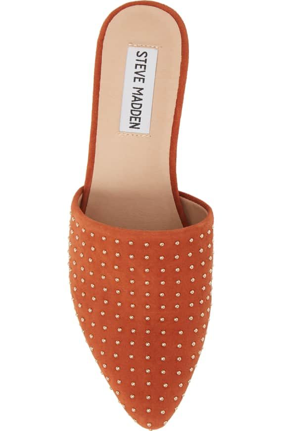 9f4a72c57e1 Steve Madden Trace Studded Mule in Rust Suede | <3 Shoes | Steve ...
