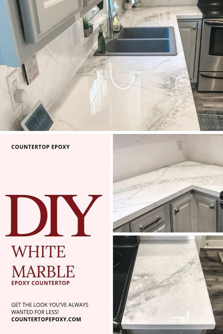 Premium White Marble Fx Poxy Countertop Kit In 2020 Diy Kitchen