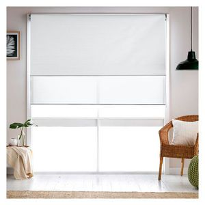 Roomaker Union Duo Roller Blind White 180x210cm  Window treatments  Roller blinds Curtains with blinds Blinds