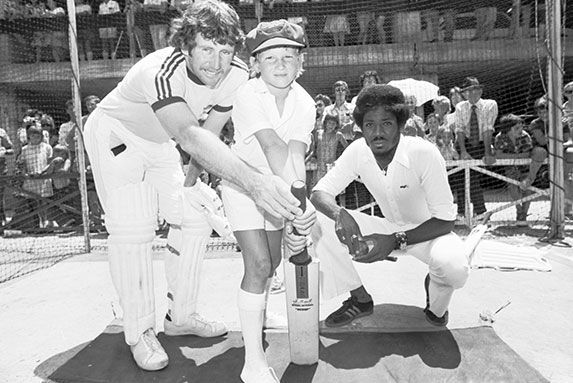 Roselands car park was converted into cricket nets for visiting World Series Cricket stars Ian Chappell, Max Walker and Michael Holding in 1976.