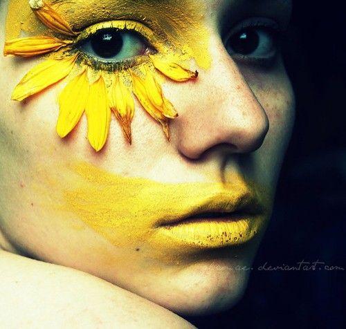 Google Image Result for http://cdnimg.visualizeus.com/thumbs/8f/14/face,flower,make,up,woman,yellow,art-8f141817a0d1c3194226002090da860e_h.jpg