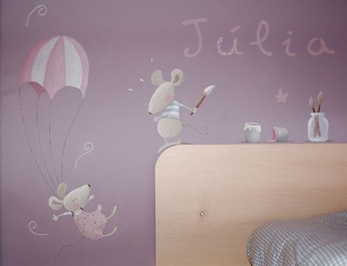 Murales infantiles que cuentan historias