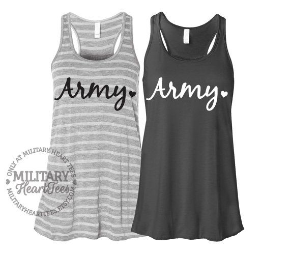 Army Racerback Tank Top Shirt, Custom Military Shirt for Wife, Fiance, Girlfriend, Workout on Etsy, $27.00