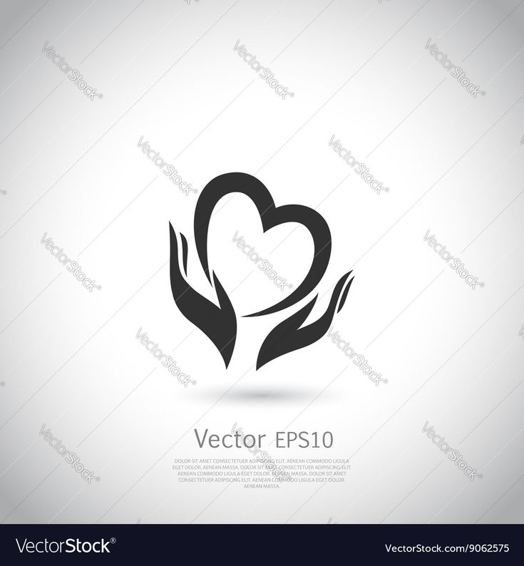 Hands holding heart symbol, sign, icon, logo template for charity, health, voluntary, non profit organization. Vector. Download a Free Preview or High Quality Adobe Illustrator Ai, EPS, PDF and High Resolution JPEG versions.