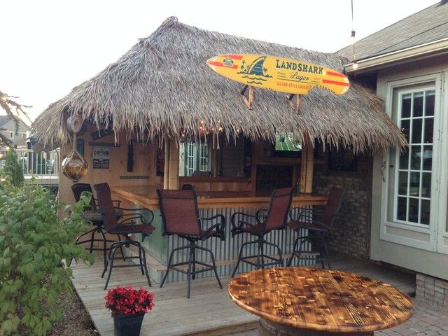 Tiki Bar Beach Style Outdoor Decor, Tiki Patio Decor