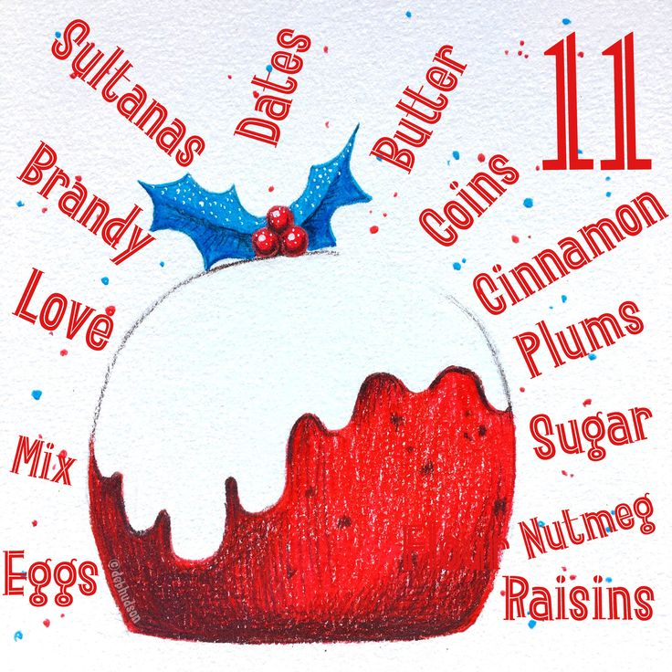 Chrissy Pud - Day 11 of the 12 days of Christmas Advent Challenge by Deb Hudson
