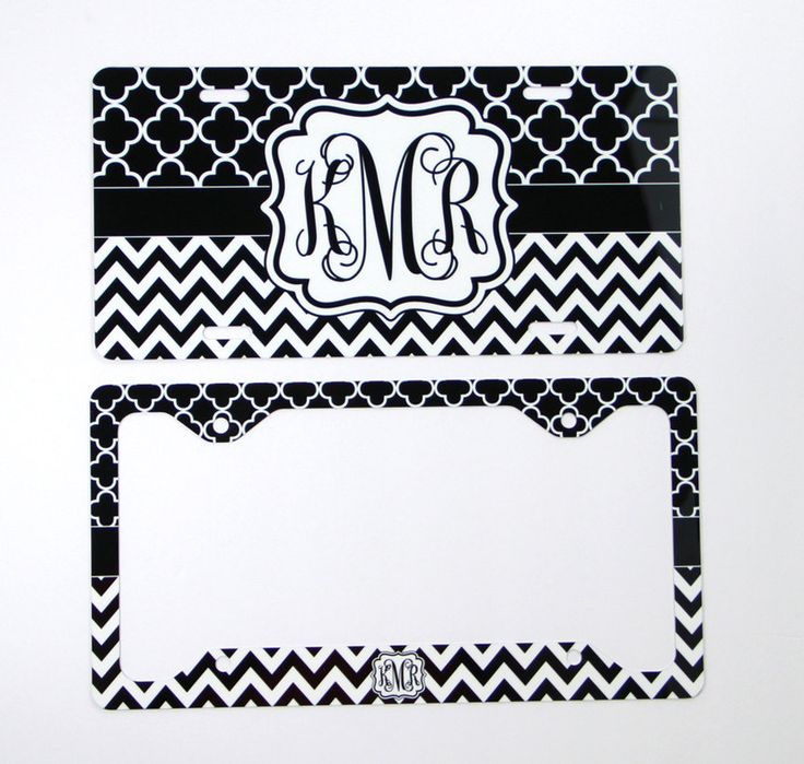 classy gift set front license plate license plate frame gift set monogrammed personalized custom cute car accessories women plate cover