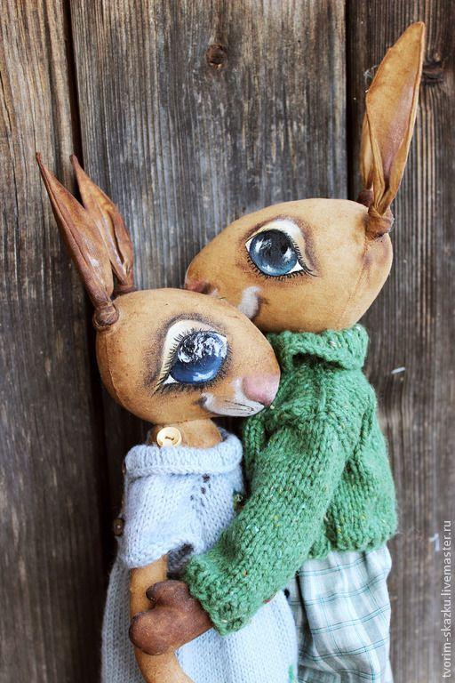 Ароматизированные куклы ручной работы. Зайчики