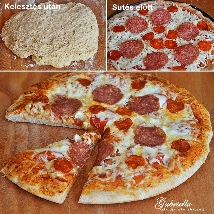 Teljes kiőrlésű pizzatészta