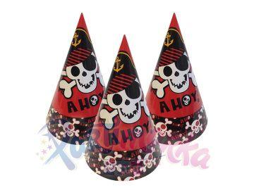 Korsan Doğum Günü Şapkaları