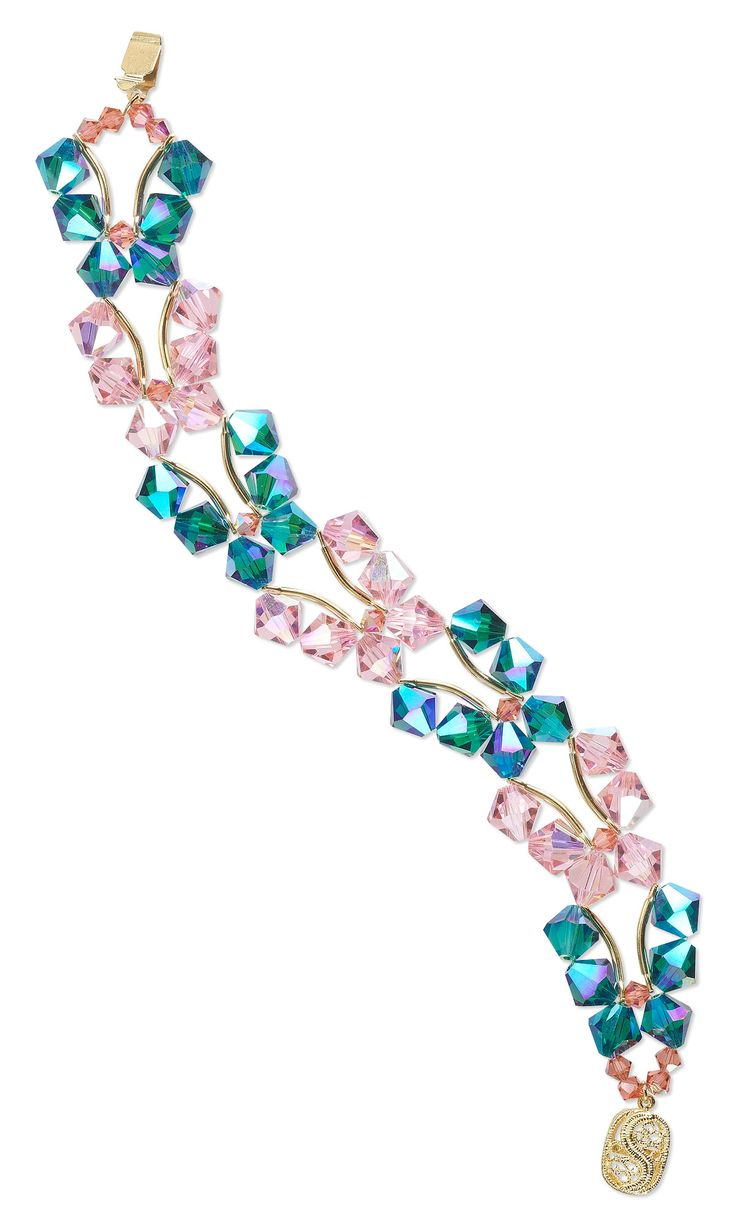Jewelry Design - Double-Strand Bracelet with Swarovski Crystal - Fire Mountain Gems and Beads