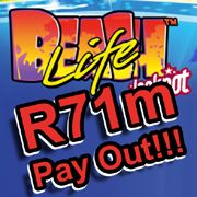 Beach Life progressive jackpot slots pays out over R71 million