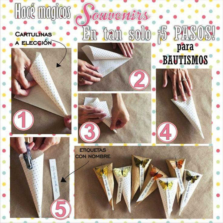 Souvenirs en 5 pasos para Bautismos. #ropa #fiestas #bautismo #tutoriales #mujeres #chicas #cortejo #moda #decoración #DIY #souvenirs #reciclaje #adornos #vasos #copas #bebes #manualidad