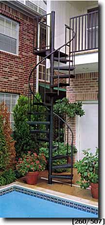 exterior straight staircase kit. stairways, inc - spiral stairs, staircase, staircase kits, outdoor stairs exterior straight kit