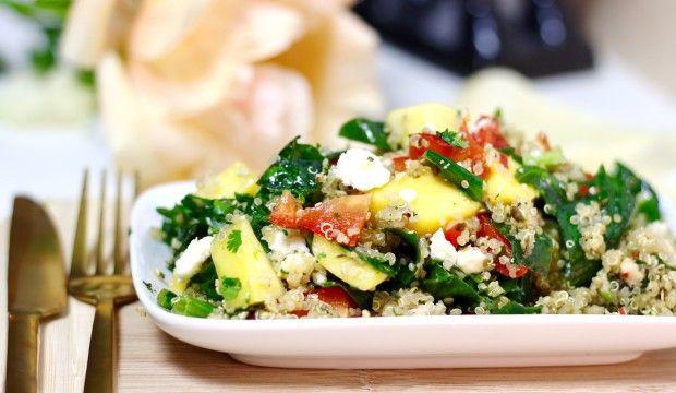 Quinoa salade met mango en kip1
