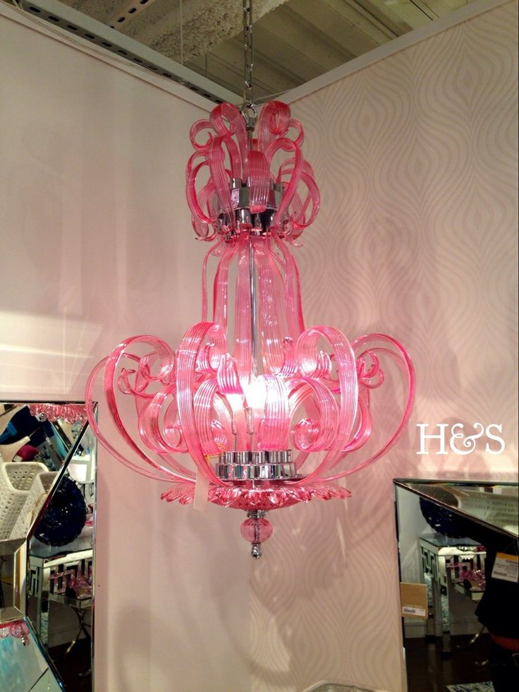 pretty in pink chandelier haute soul studio. Black Bedroom Furniture Sets. Home Design Ideas