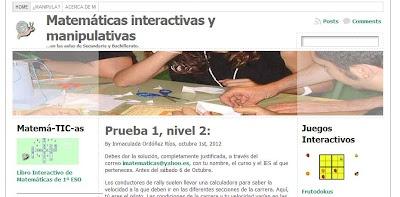 Educación y Blogs (EyB): Matemáticas interactivas y manipulativas