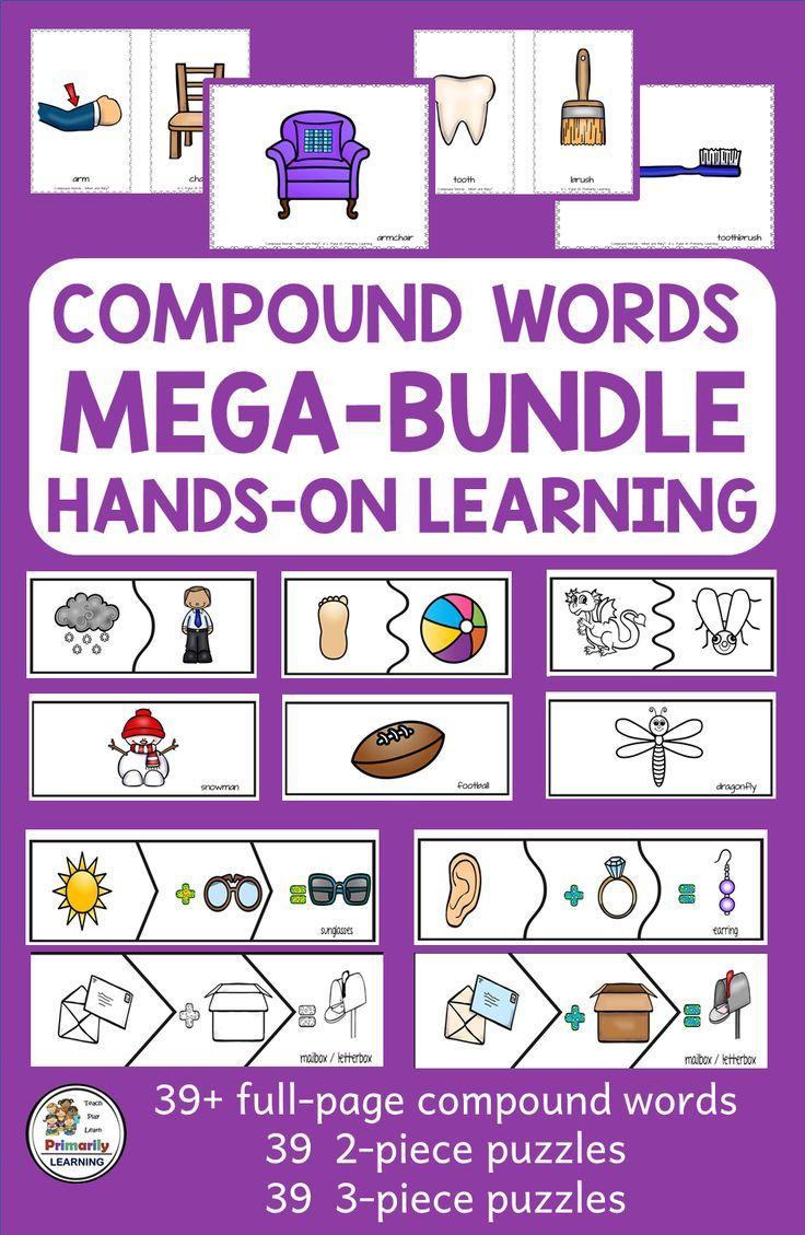 39 Compound Words Puzzle Activities 3 Formats Mega Bundle Compound Words Compound Words Activities Compound Words Worksheets [ 1129 x 736 Pixel ]