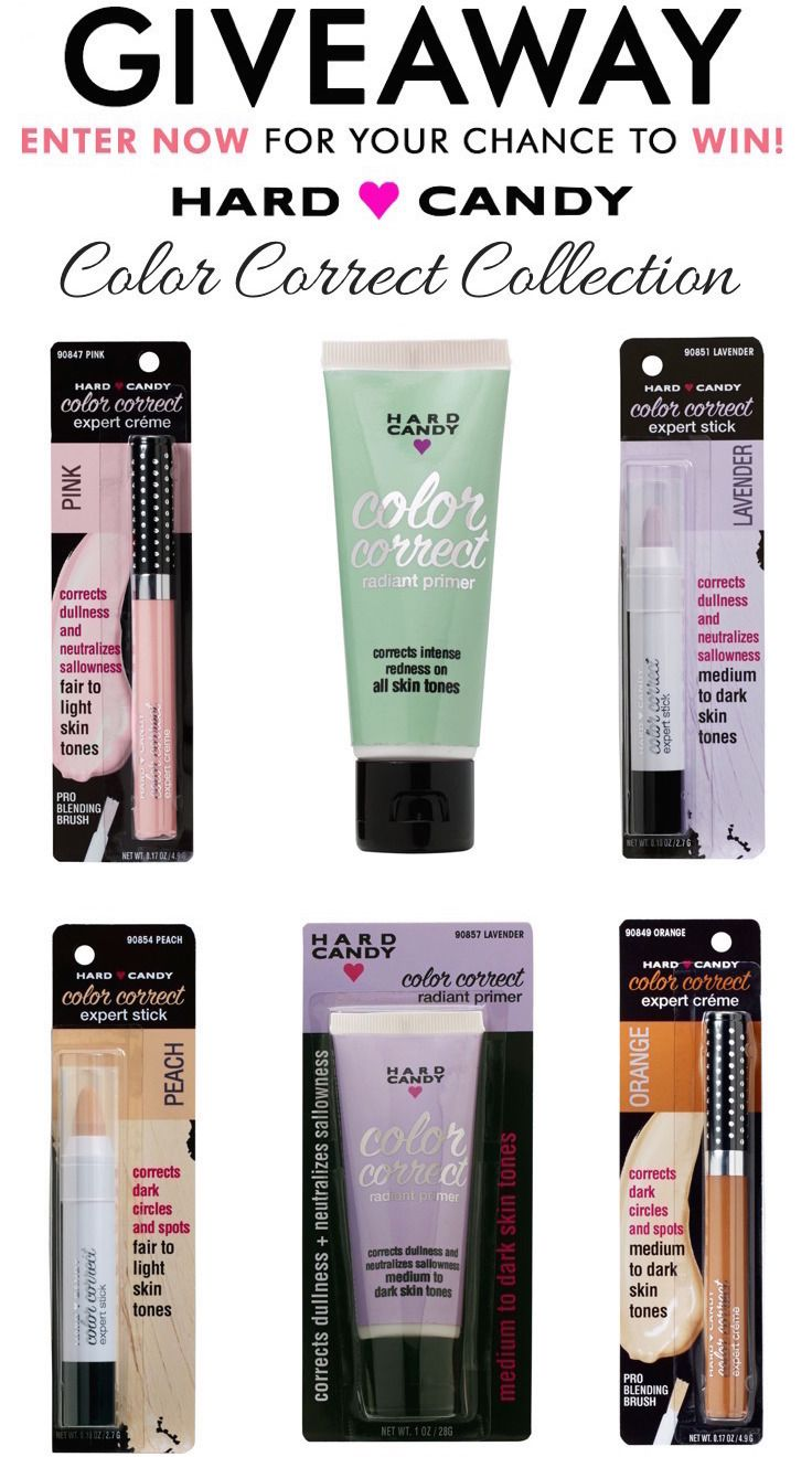 Makeup beauty and more jane cosmetics multi colored color correcting - Hard Candy Color Correct Collection Giveaway