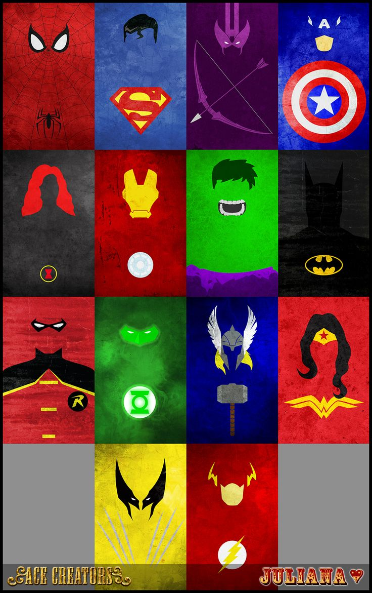 Minimalist Superheroes Posters - by Juliana | Ace Creators (for sims)