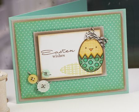 and another simple Easter card for Wed. lunch stamp group...simple coloring and cut out egg from paper