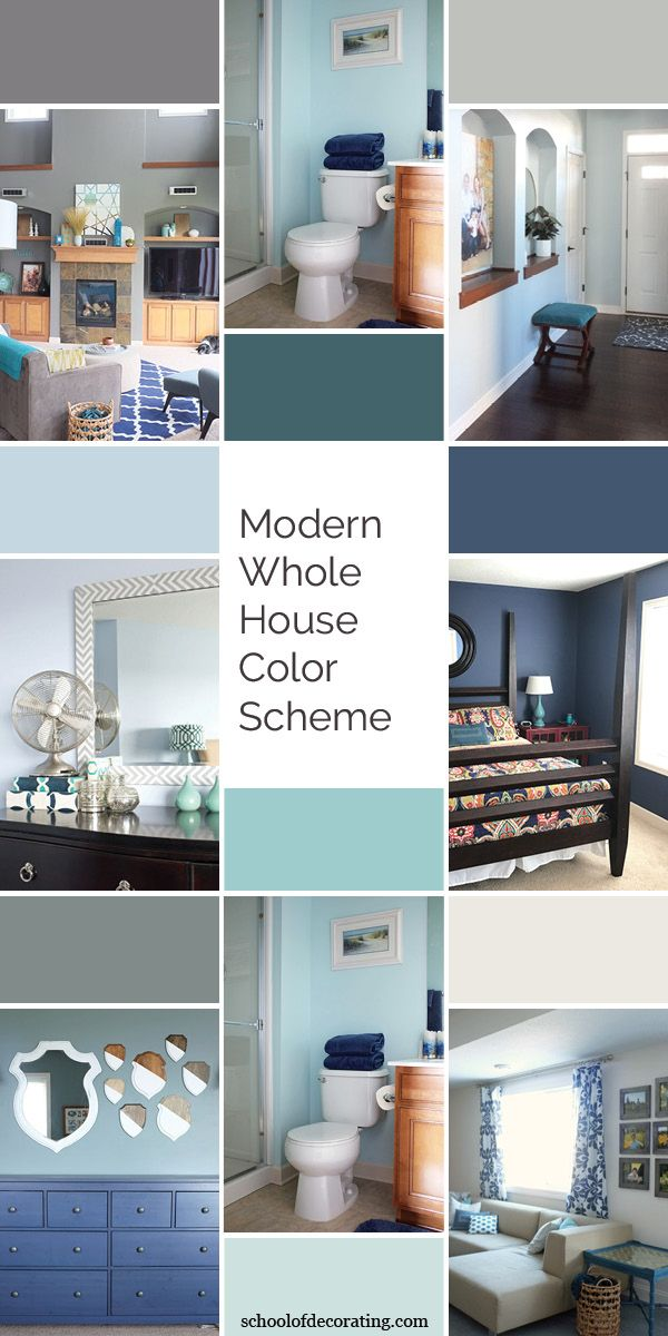 Our Paint Colors Modern Whole House Color Scheme House Color